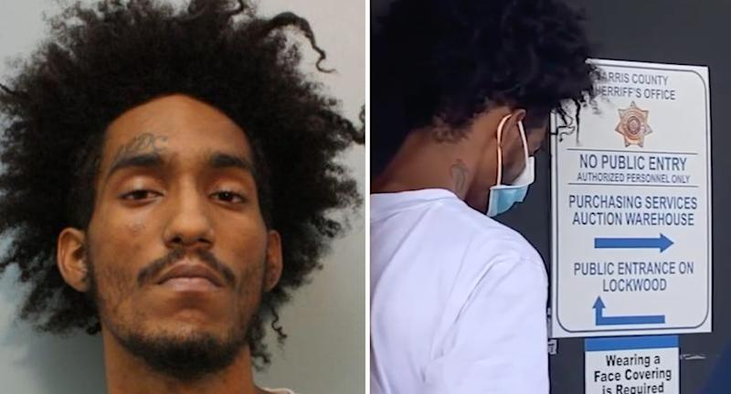 Photos shows Luis Luna who has been charged with capital murder.