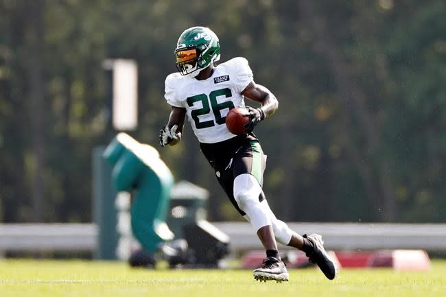 Bell not happy about being pulled in Jets' scrimmage