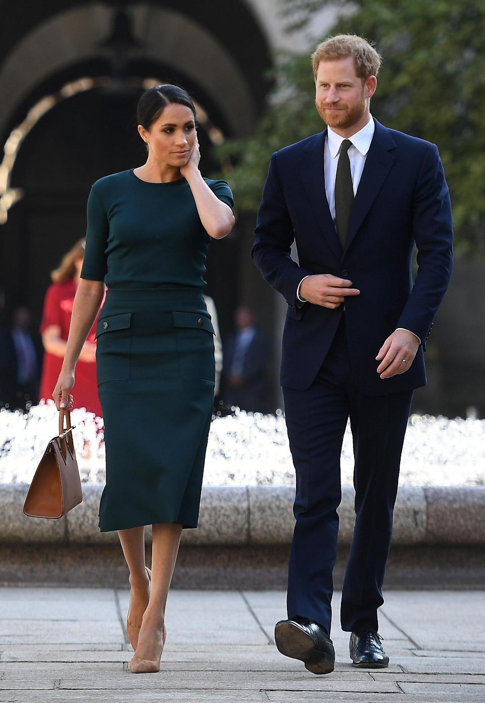 Outfit 2: Givenchy was the designer selected for Meghan's second outfit [Photo: PA]