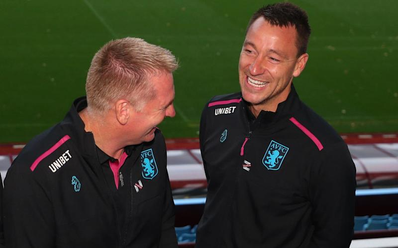 Dean Smith (left) and John Terry (right) have struck up a good relationship - Getty Images Europe