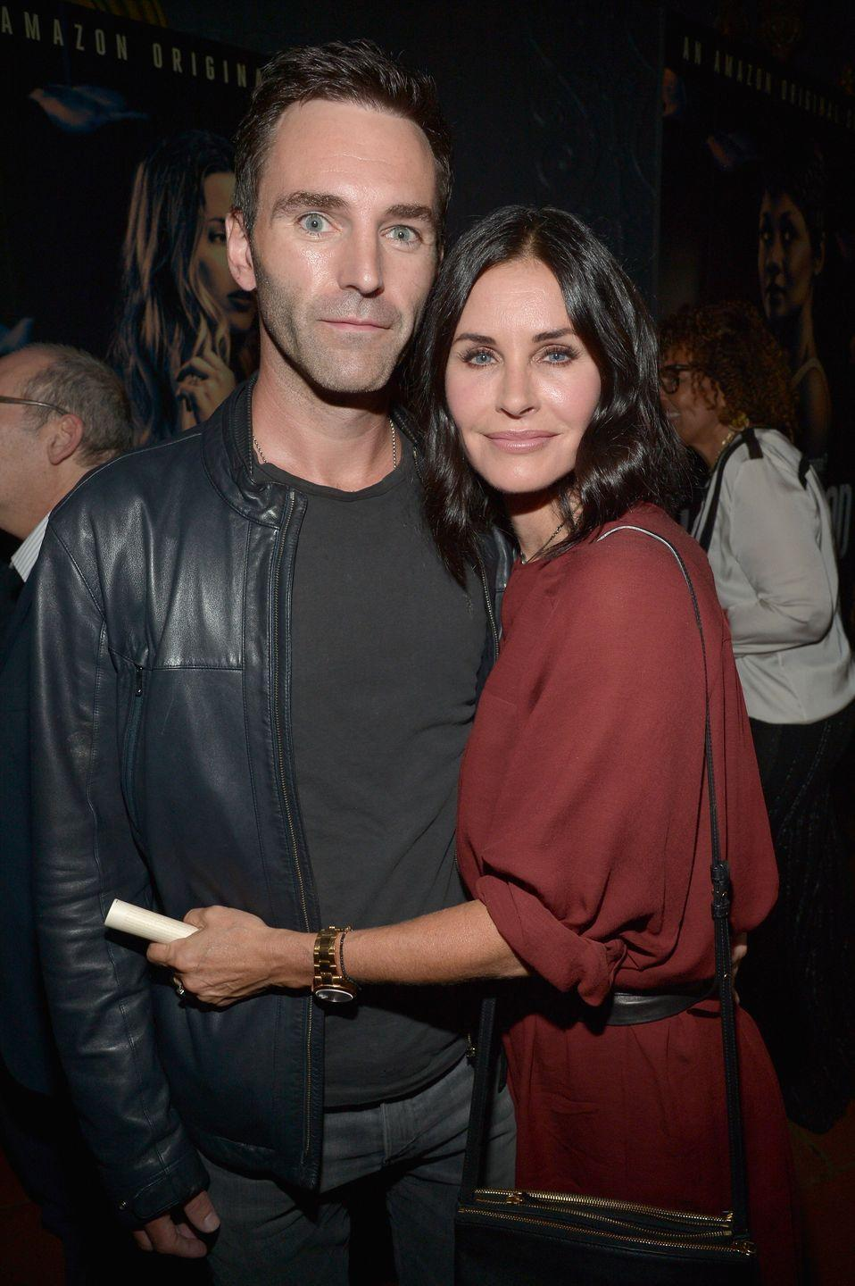"""<p>Friends star Courteney Cox and Snow Patrol musician Johnny McDaid started dating in late 2013. By June 2014, the couple was engaged but <a href=""""https://www.etonline.com/news/177135_courteney_cox_and_johnny_mcdaid_call_off_engagement"""" rel=""""nofollow noopener"""" target=""""_blank"""" data-ylk=""""slk:called it off a year later"""" class=""""link rapid-noclick-resp"""">called it off a year later</a>. The pair spent six months apart before rekindling their romance. 'We broke off our engagement and he moved to England, then we got back together, and it's actually better than it was before,' <a href=""""https://www.etonline.com/courteney-cox-says-relationship-with-musician-johnny-mcdaid-is-stronger-after-ending-engagement"""" rel=""""nofollow noopener"""" target=""""_blank"""" data-ylk=""""slk:Courteney told ET Online"""" class=""""link rapid-noclick-resp"""">Courteney told ET Online</a> in January 2019. 'Everything's better.'</p>"""