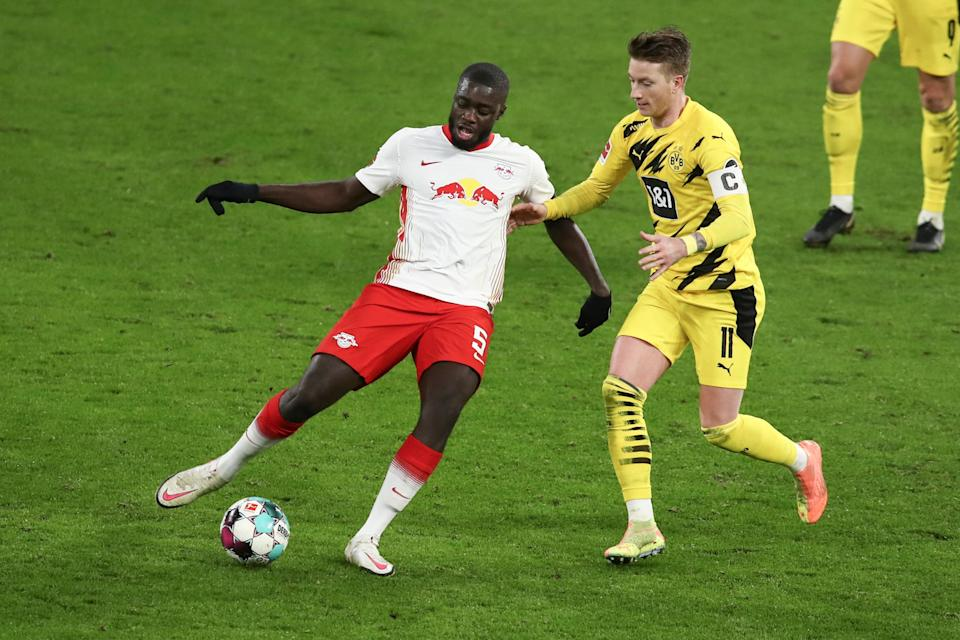 <p>Upamecano has been linked with Chelsea and Manchester United</p> (Getty Images)