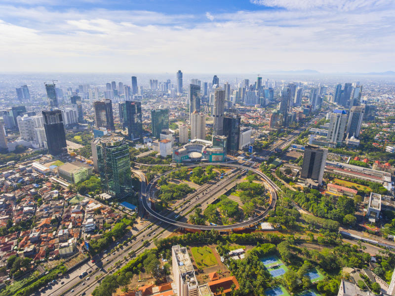 Jakarta's New Icon, Semanggi Overpass, in a Super Bright Day