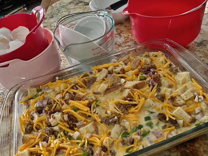 My casserole, ready for the oven. (Terri Peters)