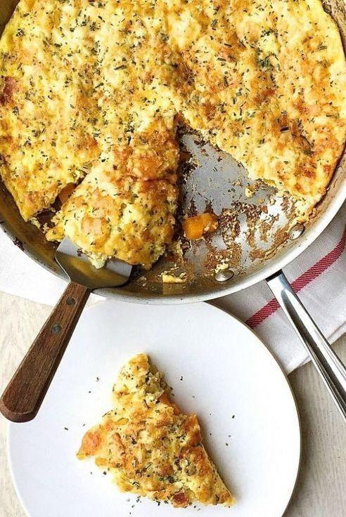 """<p>This frittata tastes just as good for dinner as it does for weekend brunch.</p><p>Get the <a href=""""https://www.delish.com/uk/cooking/recipes/a32014341/bacon-gruyere-butternut-squash-frittata-recipe/"""" rel=""""nofollow noopener"""" target=""""_blank"""" data-ylk=""""slk:Bacon, Gruyere, and Butternut Squash Frittata"""" class=""""link rapid-noclick-resp"""">Bacon, Gruyere, and Butternut Squash Frittata</a> recipe.</p>"""
