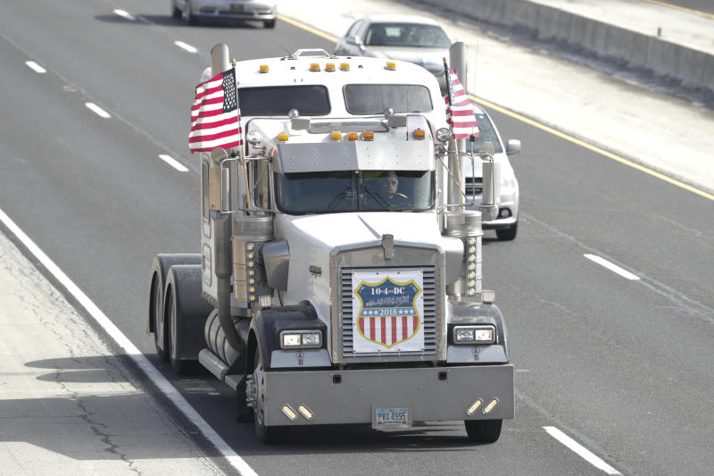 A new Bureau of Labor Statistics report contradicts more than a decade of warnings from the American Trucking Associations that there is a shortage of drivers. (ASSOCIATED PRESS)