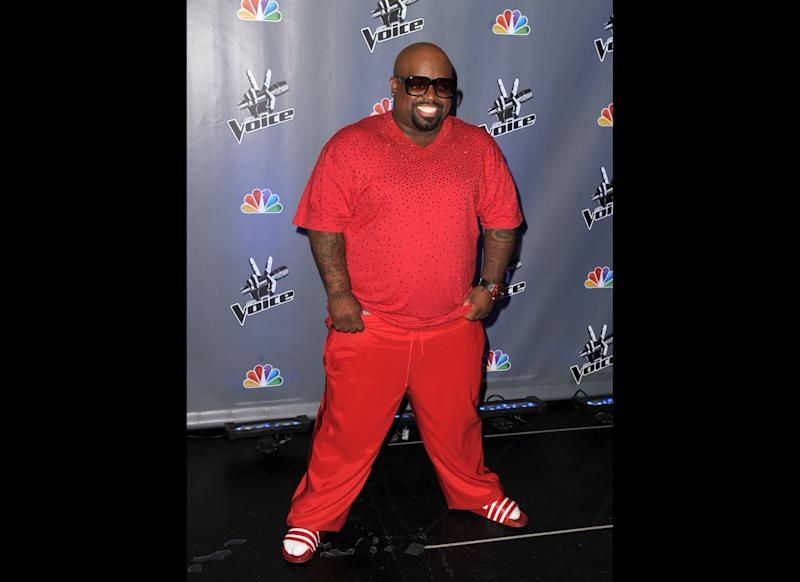 Singer Cee Lo Green appears at a press junket for NBC's 'The Voice' at Sony Studios on October 28, 2011 in Culver City, California. (Getty)