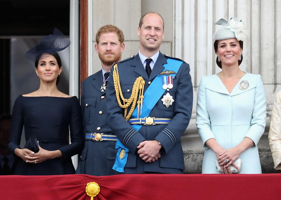 The Duke and Duchess of Cambridge and The Duke and Duchess of Sussex in July 2018Getty Images