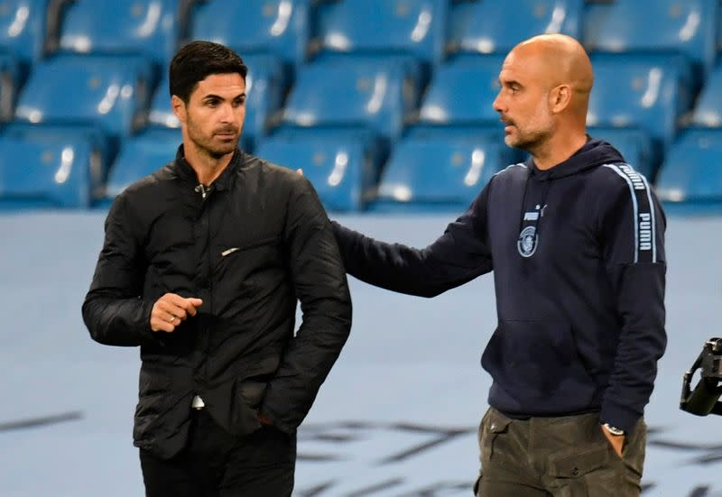 Guardiola says 'not much' respect for Arsenal off the pitch