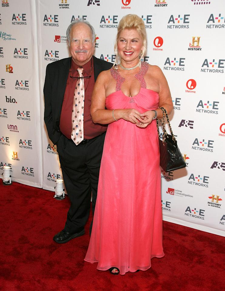 "Richard Dreyfuss (A&E's ""Coma"") and Svetlana Erokhin attend the A&E Networks 2012 Upfront at Lincoln Center on May 9, 2012 in New York City."