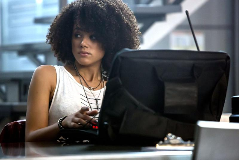 Nathalie Emmanuel as Ramsey in 'Fast & Furious 8' (credit: Universal)