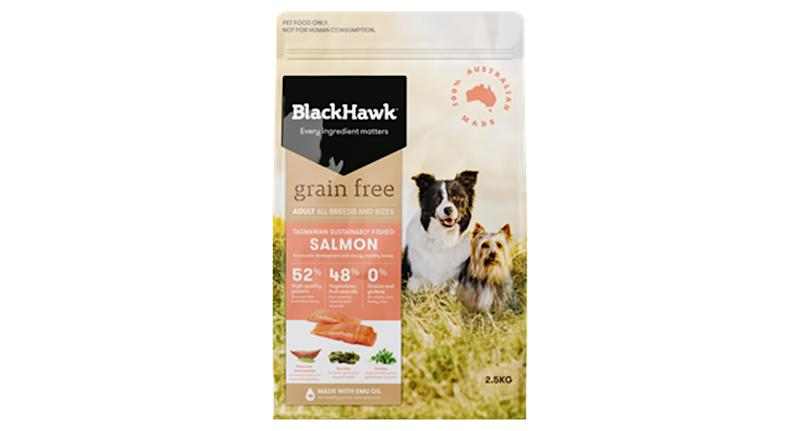 Black Hawk Grain Free salmon dog food pulled after reports of sick pets