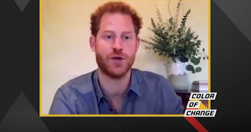 Prince Harry discusses the issue of racism with the Color of Change initiative. Video taken from Instagram on 10/08/2010. Credit: Color of Change / Instagram: Color of Change / Instagram