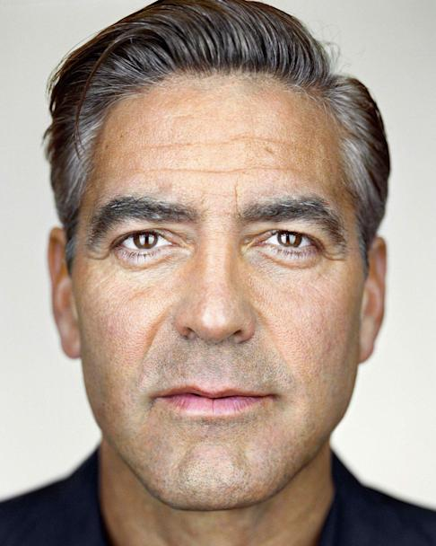 Close-up of George Clooney (2008). Photo: Courtesy of Martin Schoeller