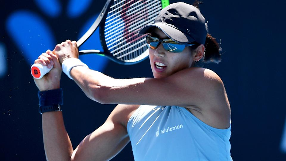 Astra Sharma impressed many in her comeback victory over Ons Jabeur. (Photo by Mark Brake/Getty Images)