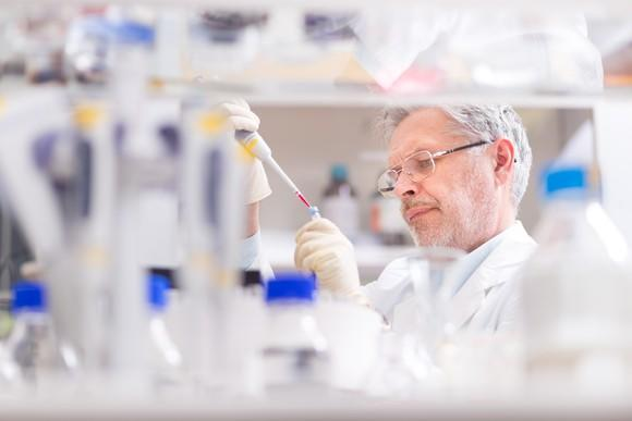 Male scientist working in a laboratory