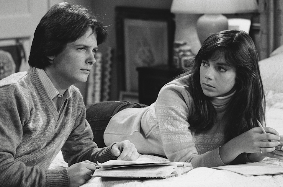 """On Family Ties, our executive producer, Gary Goldberg, was very adamant that everything look very natural,"" Bateman says. Michael J. Fox played her onscreen Republican-loving brother in the liberal Keaton family."
