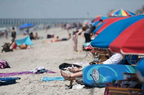PHOTO: People enjoy the beach on July 4, 2020 in Myrtle Beach, S.C. (Sean Rayford/Getty Images)