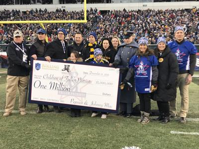 Children of Fallen Patriots Receives $1 Million Donation from PepsiCo and Johnny Mac Soldier's Fund at this year's Annual Army-Navy Football game. These Funds will Provide 160 Years of College education
