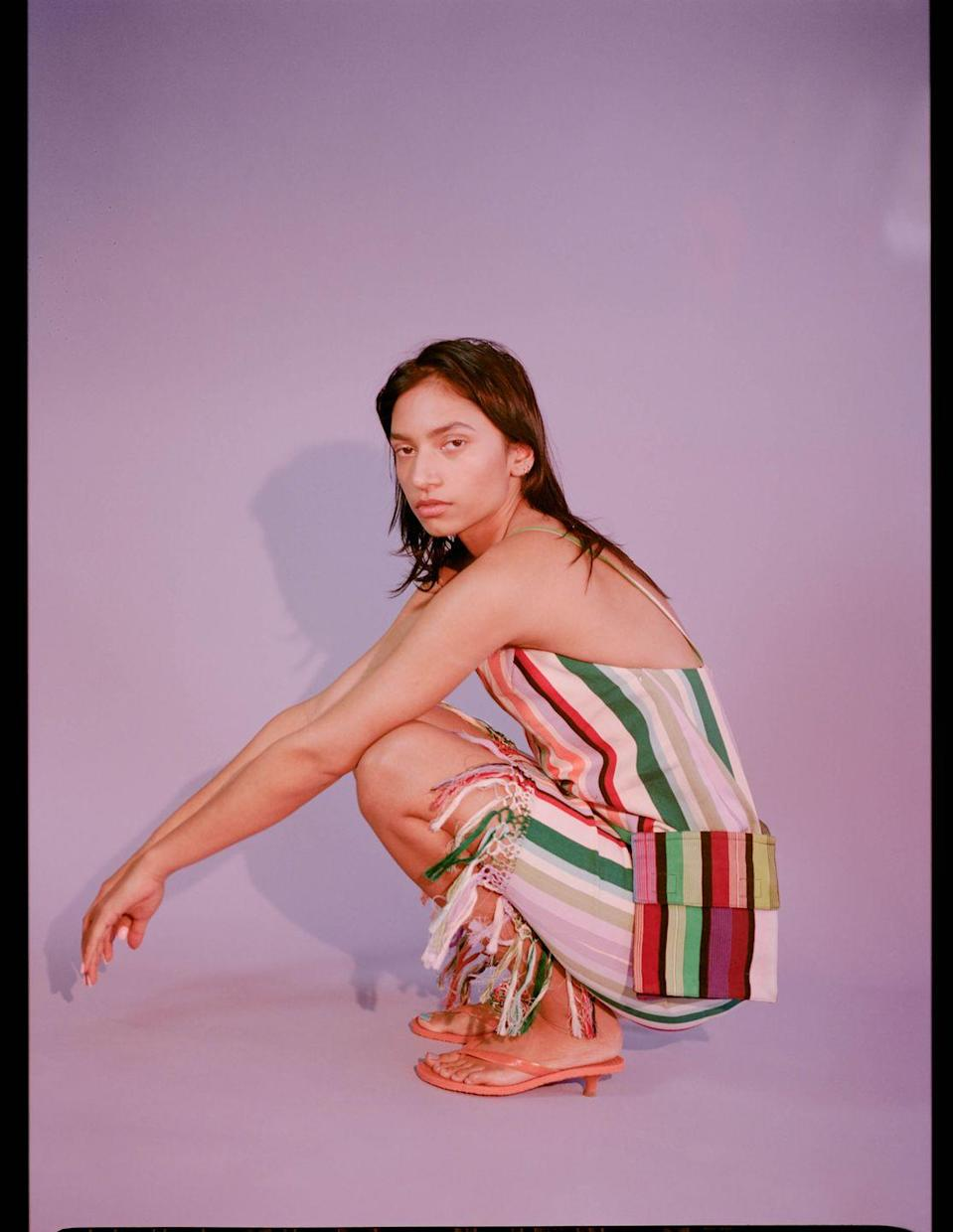 <p>Mozh Mozh is a whimsical, slow-fashion line that celebrates the native artisans creating signature Peruvian textiles and clothing techniques. The brand prides itself on its usage of quality alpaca, cotton, wool, and natural rubber, which are all native to the South American country. </p>