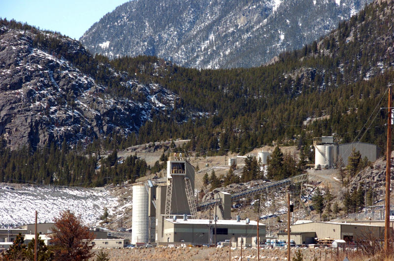 FILE - This May 2, 2013 file photo shows the Stillwater mine near Nye, Mont. Owner Sibanye-Stillwater is pursuing an expansion of its Montana operations after a prolonged strike and string of fatalities at its mines in South Africa. (AP Photo/Matthew Brown, File)