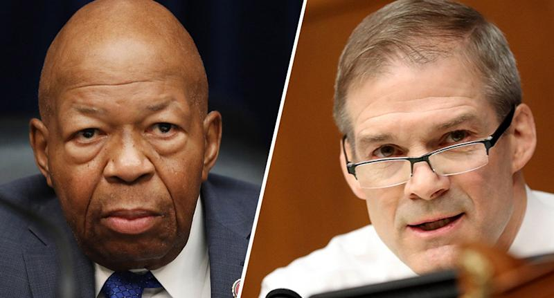 Rep. Elijah Cummings and Rep. Jim Jordan. (Photos: Andrew Harrer/Bloomberg via Getty Images)