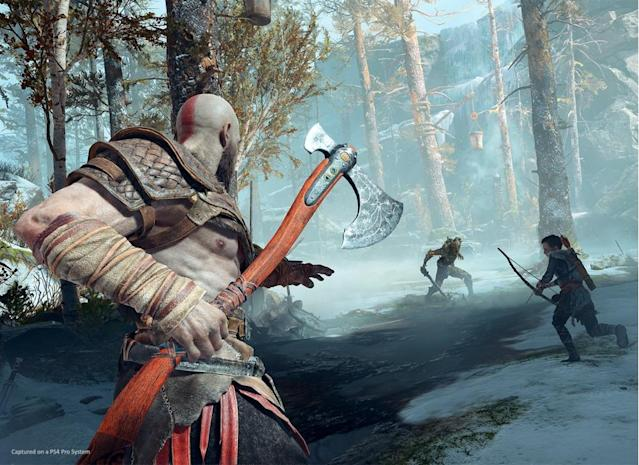 Kratos now uses his Leviathan Axe instead of his trademark chain blades.