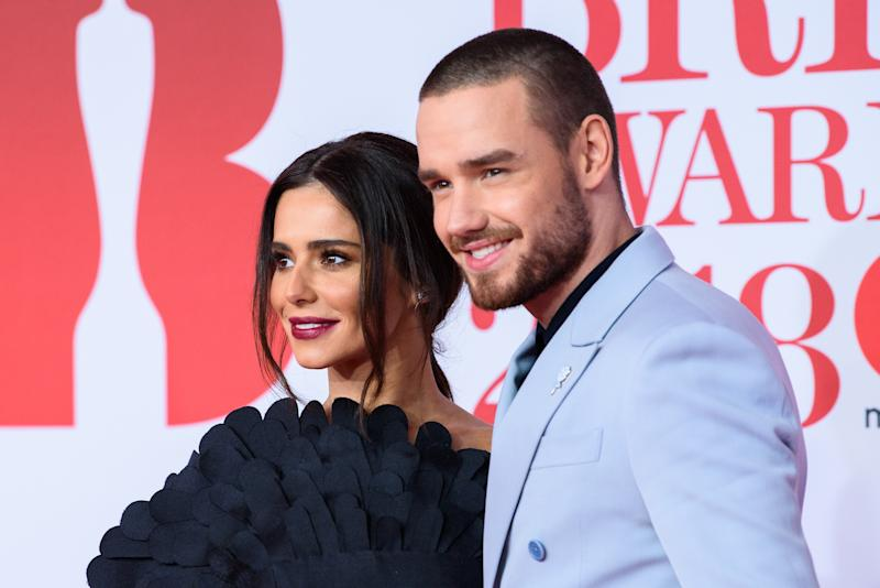 LONDON, ENGLAND - FEBRUARY 21: *** EDITORIAL USE ONLY IN RELATION TO THE BRIT AWARDS 2018 *** Cheryl and Liam Payne attend The BRIT Awards 2018 held at The O2 Arena on February 21, 2018 in London, England. (Photo by Joe Maher/FilmMagic)