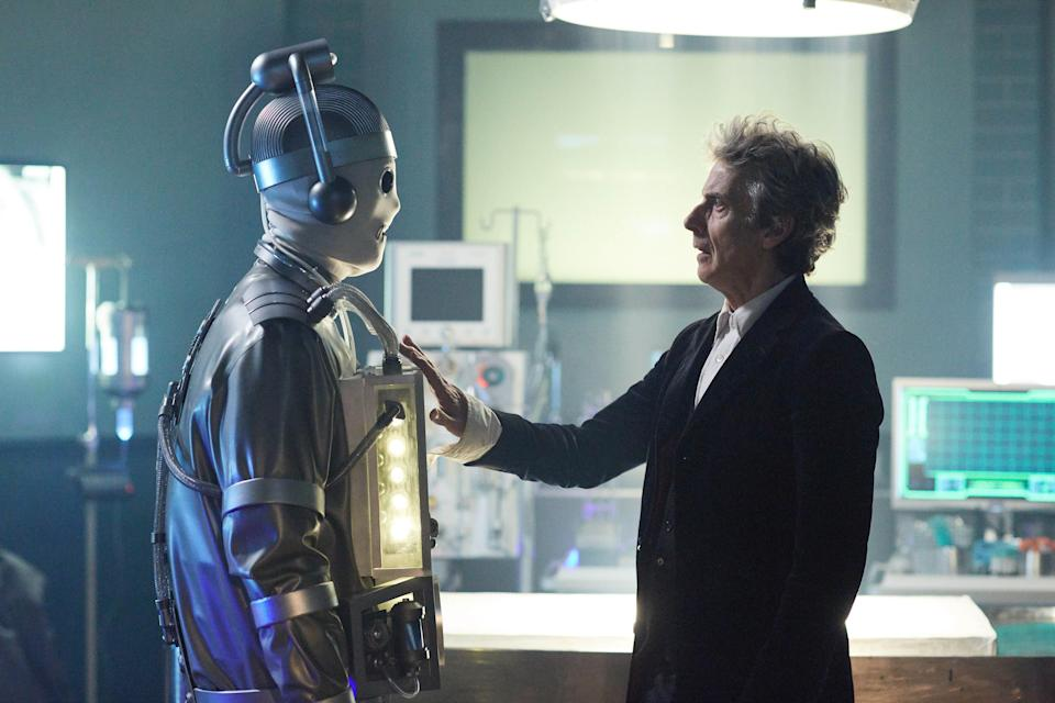 Bill becomes the first Cyberman in Episode 11 of <em>Doctor Who.</em> (Photo: Simon Ridgway/BBC America)