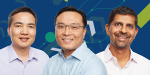 BrightInsight Co-founders from left to right: Ben Lee, Vice President Engineering & Data Science and co-founder Ferry Tamtoro, Chief Technology Officer and co-founder Kal Patel, M.D., Chief Executive Officer and co-founder