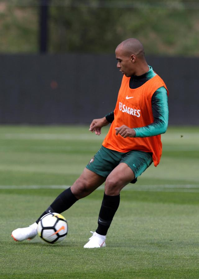 Soccer Football - FIFA World Cup - Portugal Training - Oeiras, Portugal - May 22, 2018. Portugal's national soccer team player Joao Mario attends a training session. REUTERS/Rafael Marchante