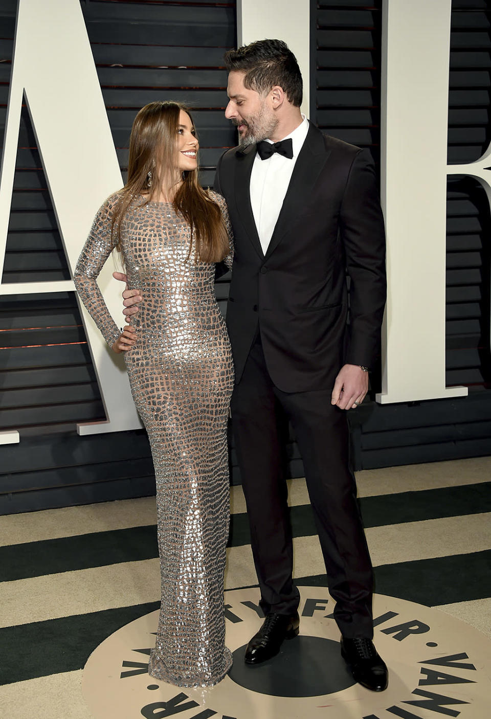 <p>Sofía Vergara, left, and Joe Manganiello arrive at the Vanity Fair Oscar Party on Sunday, Feb. 26, 2017, in Beverly Hills, Calif. (Photo by Evan Agostini/Invision/AP) </p>