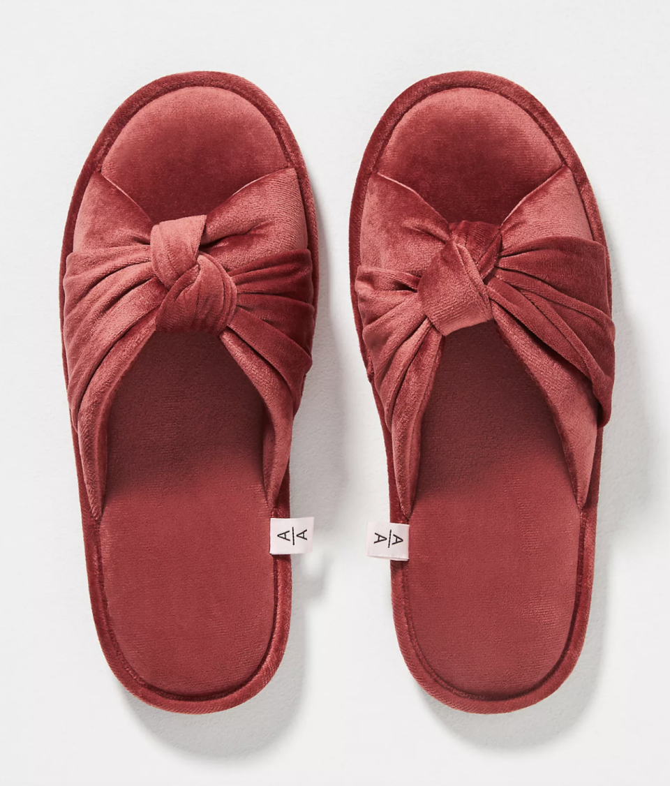 Ariana Bohling Velvet Bow Slippers - $50 (originally $65)