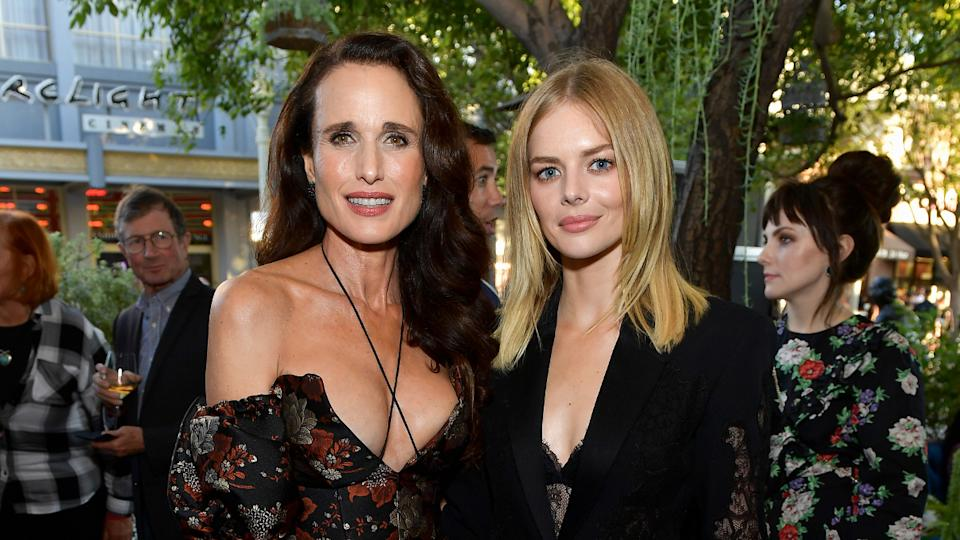 """Andie MacDowell and Samara Weaving attend a screening of """"Ready Or Not"""" on August 19, 2019. (Photo by Matt Winkelmeyer/Getty Images)"""