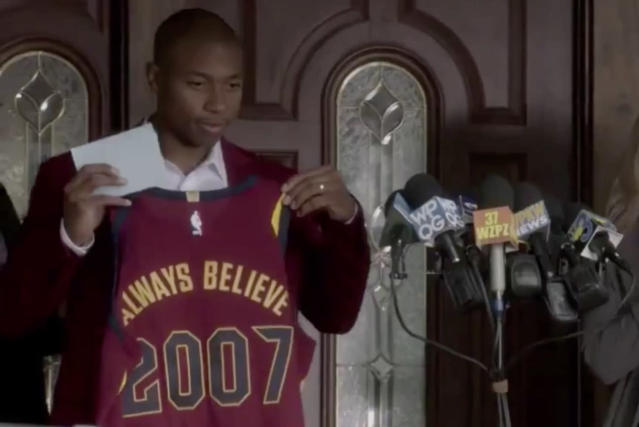 "<a class=""link rapid-noclick-resp"" href=""/nba/players/4942/"" data-ylk=""slk:Isaiah Thomas"">Isaiah Thomas</a> has always believed in the Cavaliers since 2007. Or something."