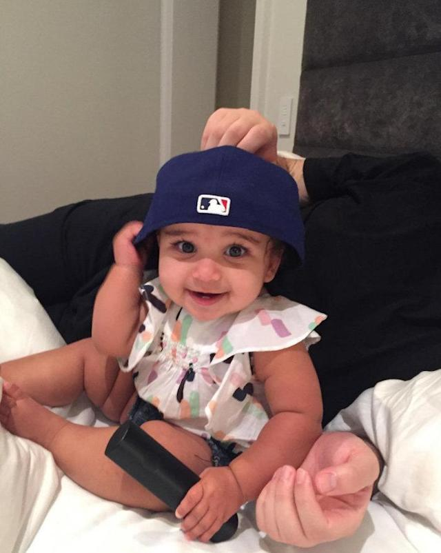 <p>Dream is destined to be an L.A. Dodgers fan, just like her dad. (Photo: Instagram/Rob Kardashian) </p>