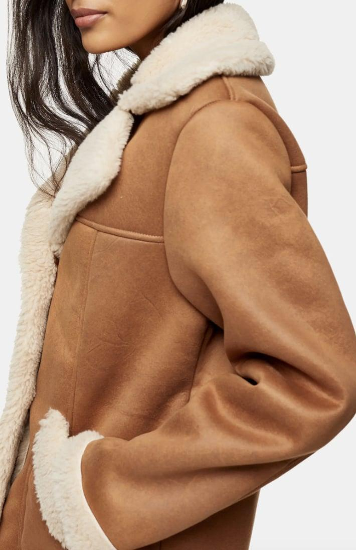 <p>Your everyday look just got so much more sophisticated in this <span>Topshop Steve Faux Shearling Car Coat</span> ($150).</p>