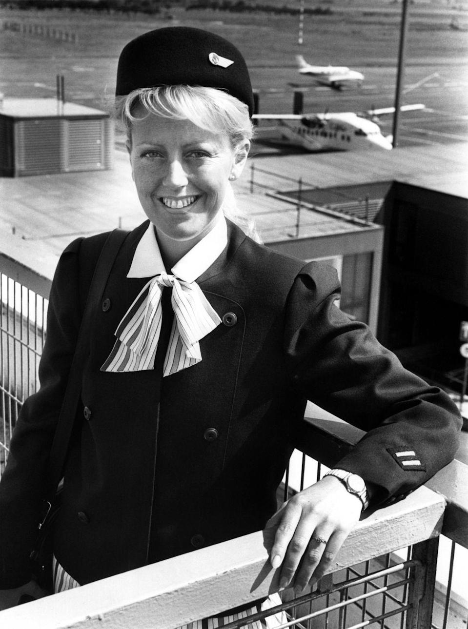 "<p>Utilitarian uniforms became the status quo again in the 1980s — and have largely remained that way ever since. Also, the name stewardess was largely replaced with the more gender-neutral ""flight attendant."" </p>"