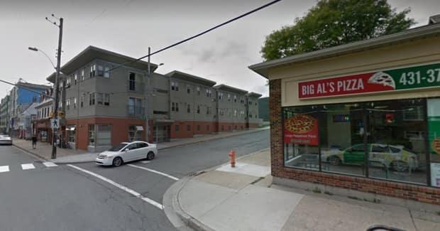 Troy Edward William Clayton punched Benjamin Lokeny on this corner of Halifax. Lokeny fell, hit his head on the sidewalk, and later died.  (Google Streetview - image credit)