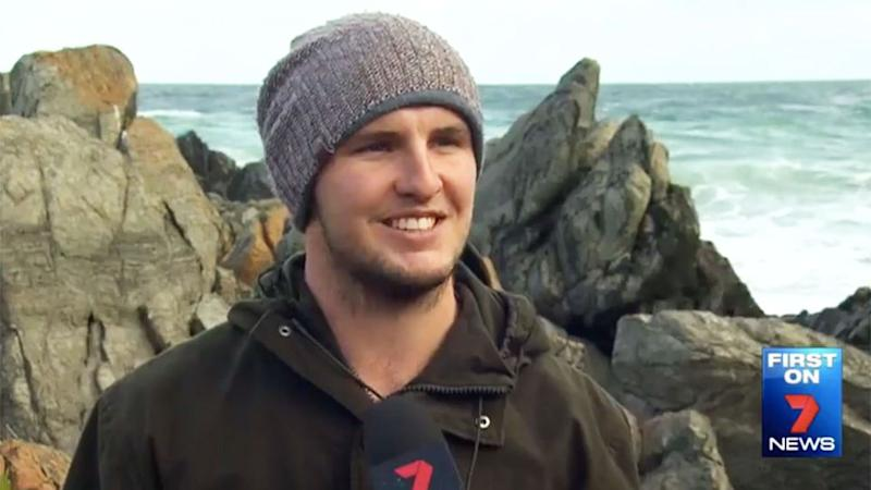 Samuel Armstrong told 7 News it isn't the first time debris has been washed up on the beach. Photo: 7 News