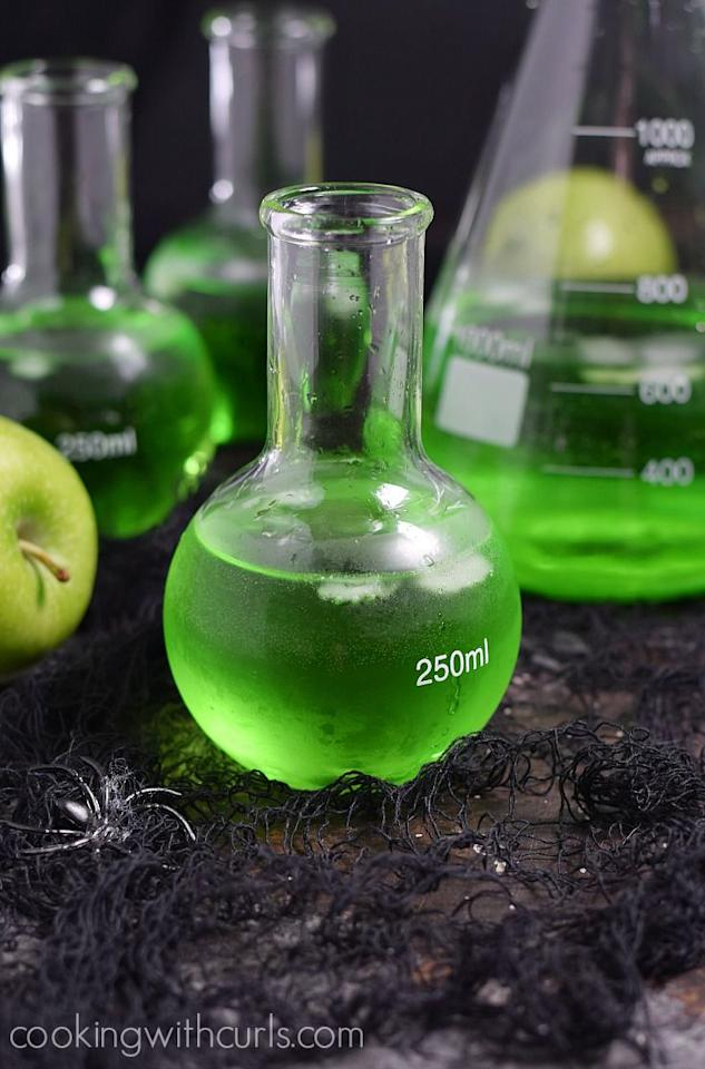 "<p>Poison comes in many forms  -  in this case it's two kinds of vodka. </p><p><strong>Get the recipe at <a rel=""nofollow"" href=""https://cookingwithcurls.com/2016/10/03/poisoned-apple-cocktail/"">Cooking with Curls. </a></strong><br></p>"