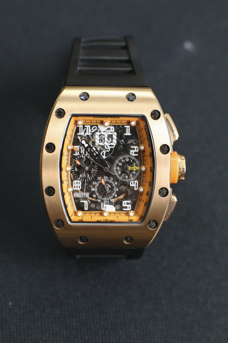 Un reloj Richard Mille propiedad del fundador de STEAMIS, Simon Wong. (Edmond So / South China Morning Post a través de Getty Images)