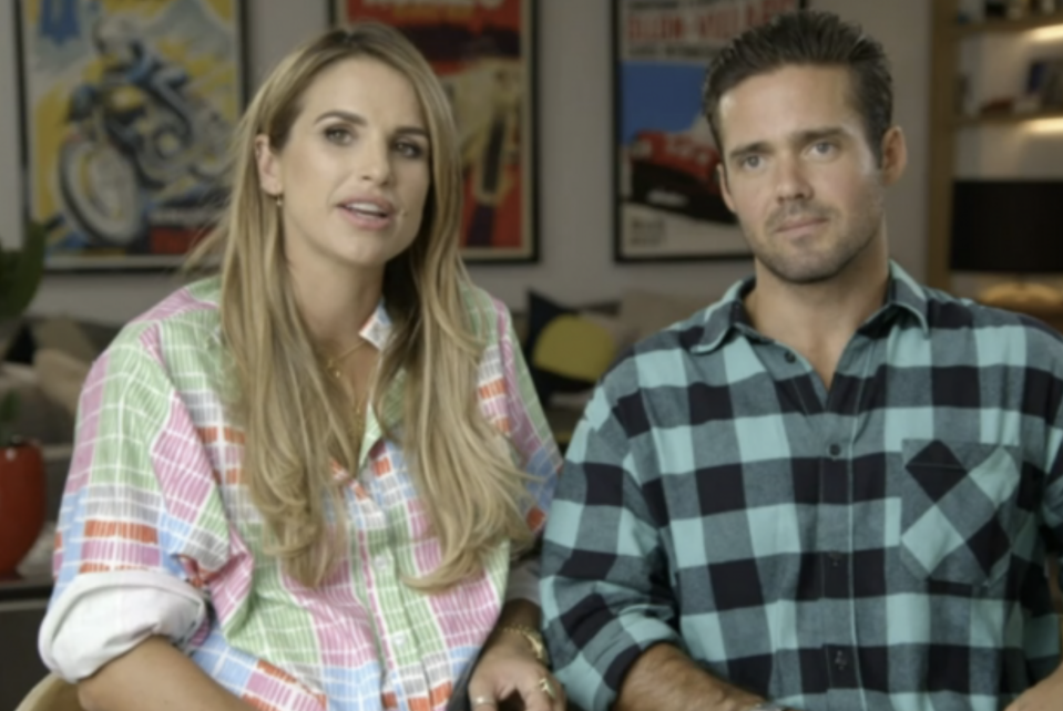 Vogue Williams and Spencer Matthews jokingly exchanged insults