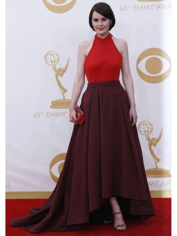 <p><strong>Michelle Dockery</strong>: Michelle from <em>Downton Abbey</em> wore a stunning red and oxblood halter outfit from Prada.</p>