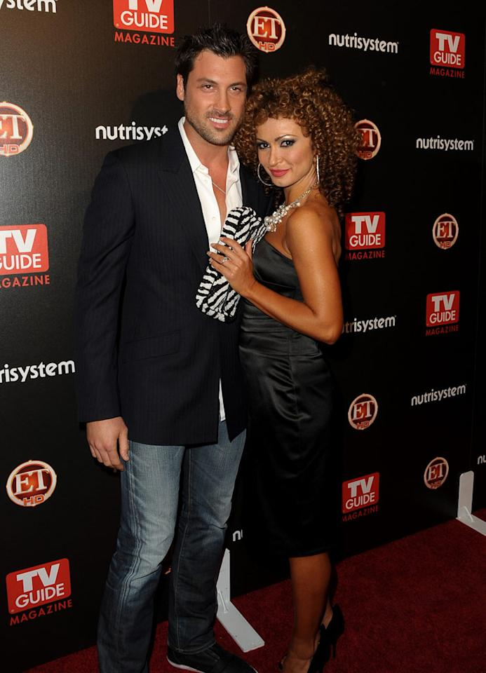 """DWTS"" darlings Maksim Chmerkovskiy and Karina Smirnoff popped a pose for photographers before entering the gorgeous gala. Jordan Strauss/<a href=""http://www.wireimage.com"" target=""new"">WireImage.com</a> - March 24, 2009"