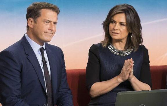 Lisa and Today Show co-host Karl Stefanovic. Source: Channel Nine