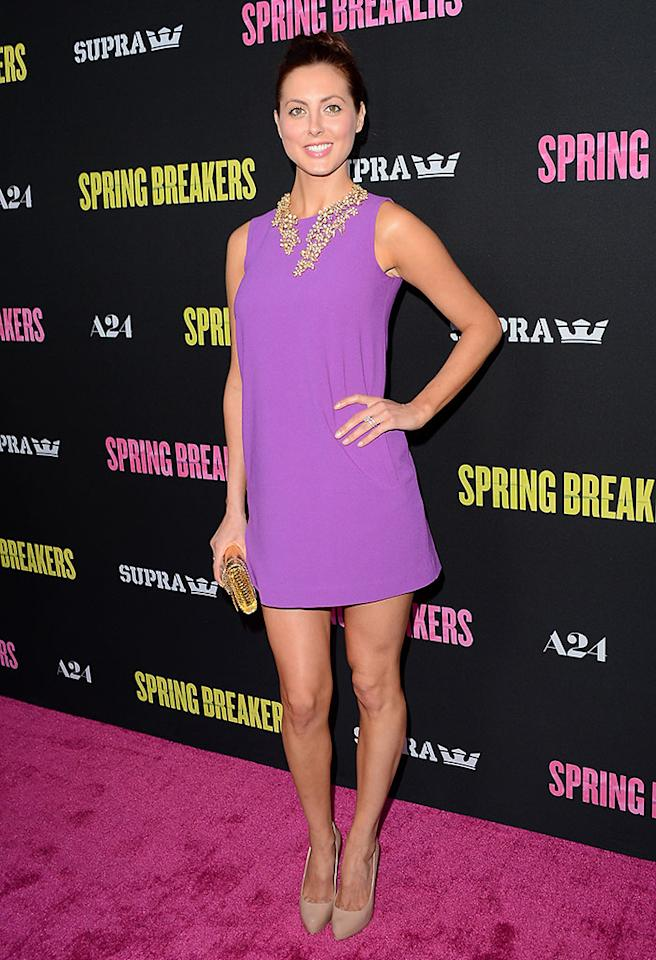 Eva Amurri attends the 'Spring Breakers' premiere at ArcLight Cinemas on March 14, 2013 in Hollywood, California.
