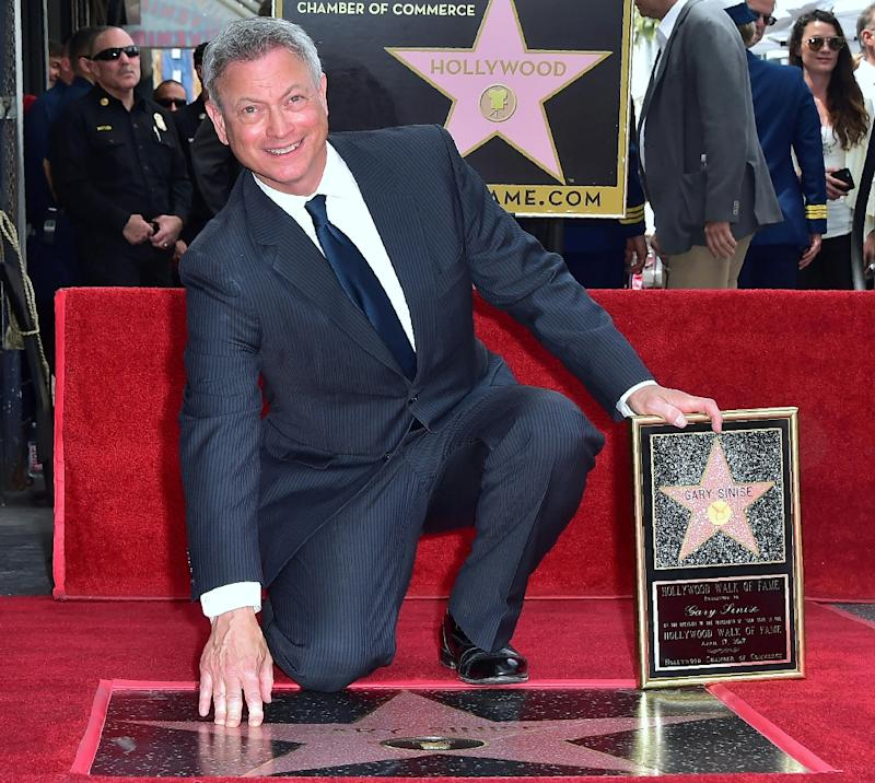 """Actor Gary Sinise, the latest celebrity to receive a star on the Hollywood Walk of Fame, received an Oscar nomination for his portrayal of disabled Lt. Dan Taylor in """"Forrest Gump"""""""