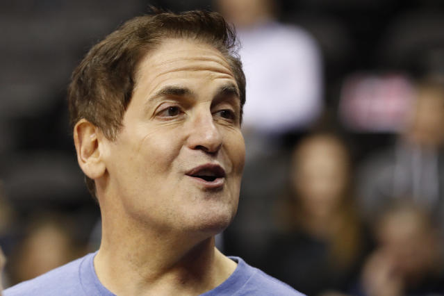Mark Cuban didn't appear to be too concerned about a $50,000 fine from the NBA. (Reuters)