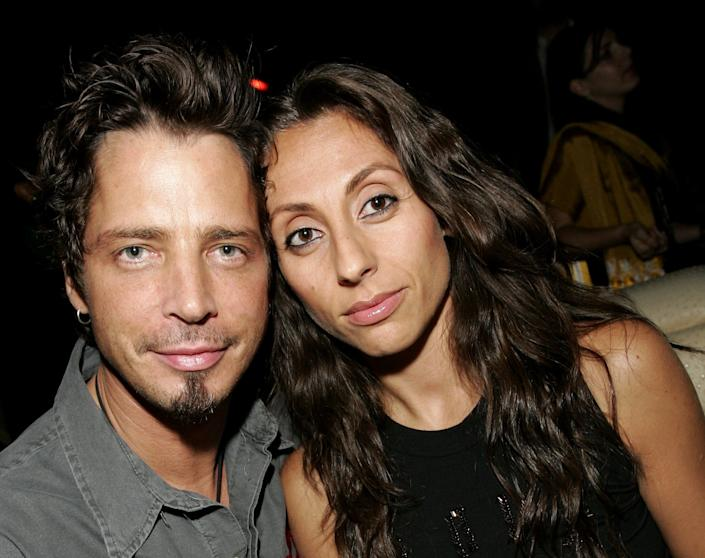 Chris Cornell and Vicky Cornell together in 2006. (Photo: Brian Ach via Getty Images)